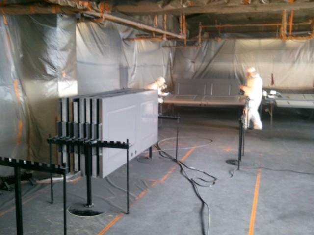 contractor painting door system