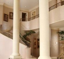 Painted Columns in House, California Foyer, House Painting services,