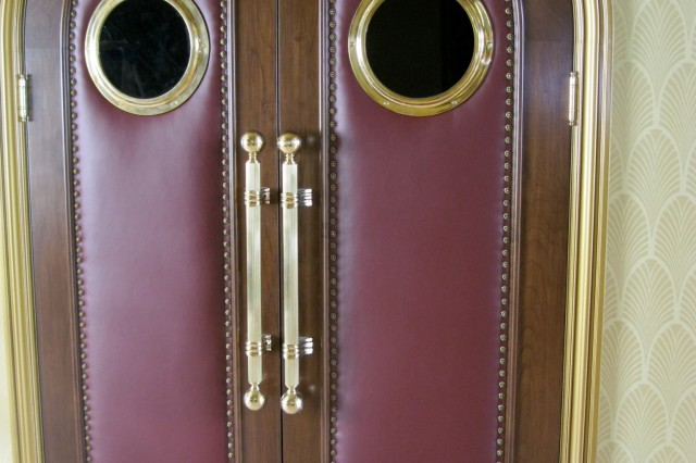 Custom upholstered door